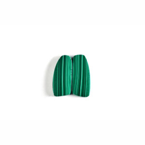 11x25mm Wing Pair Malachite Cabochon