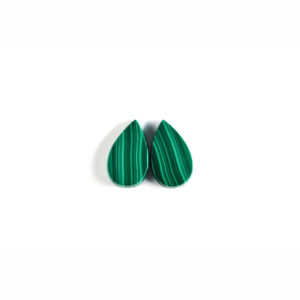 12x20mm Pear Pair Malachite Cabochon