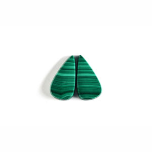 14x26mm Pear Pair Malachite Cabochon