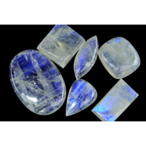 Assorted Free-form Rainbow Moonstone Cabochon