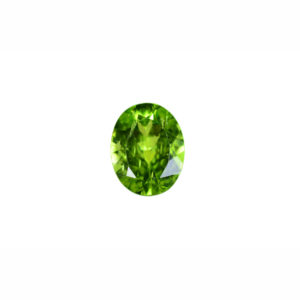 5x7mm Oval AA Faceted Peridot
