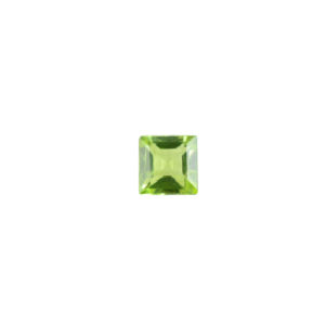4mm Square AA Faceted Peridot