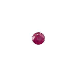 3mm Round Faceted Ruby (Natural)
