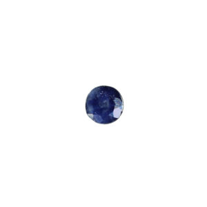 4mm Round Faceted Blue Sapphire (Natural)