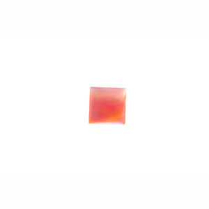 6mm Square Pink Mussel Shell Cabochon