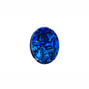 10x14mm Oval Blue Paua Shell Cabochon