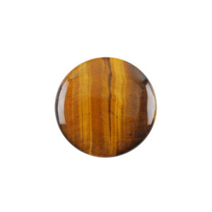 5mm Round Yellow Tiger's Eye Cabochon