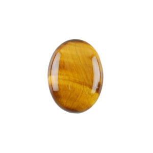 8x10mm Oval Yellow Tiger's Eye Cabochon