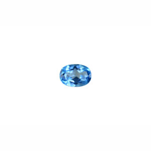 4X6mm Oval AAA Faceted Swiss Blue Topaz