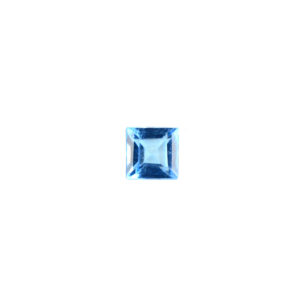 4mm Square AA Faceted Swiss Blue Topaz