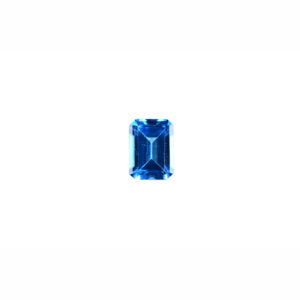 5x7mm Emerald Cut Faceted Swiss Blue Topaz