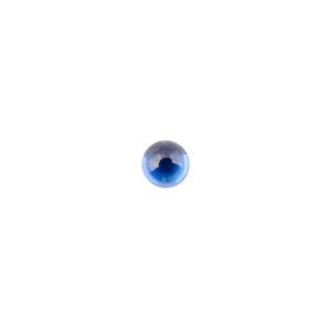 5mm Round Sapphire Cubic Zirconia Cabochon