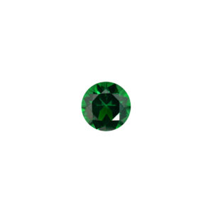2.5mm Round Faceted Soude Synthetic Emerald