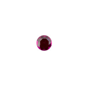2mm Round Faceted Wine Sapphire (Synthetic)