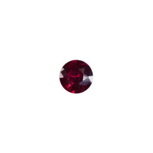 5mm Round Faceted Garnet (Synthetic)