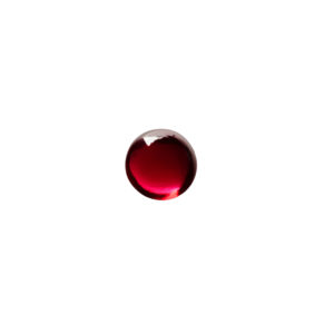 4mm Round Garnet (Synthetic) Cabochon