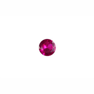 2mm Round Faceted Ruby (Synthetic)