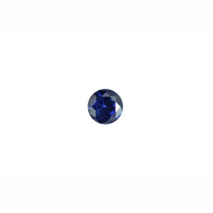 3mm Round Faceted Blue Sapphire (Synthetic)