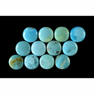 13mm Stabilized Round #8 Nevada Turquoise Cabochon