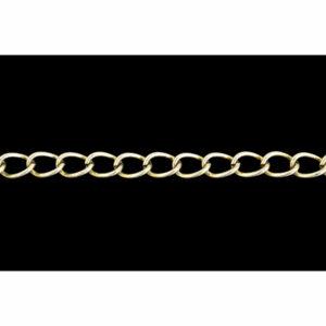 6.5mm Bulk Silver Plated Curb Chain
