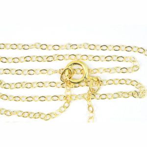 18-inch 1.5mm Gold-Fill Cable Chain