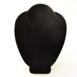 6 x 4 x 3in Black Velveteen Mini Necklace Bust