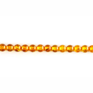 6mm Round Dark Synthetic Amber Bead Strand