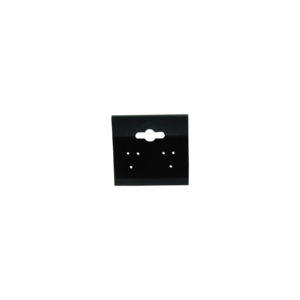 1-1/2 x 1-3/8in Black Plastic Earring Hanging Card