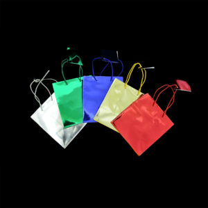 4 x 4-1/2 x 2-3/4in Metallic Gift Bags