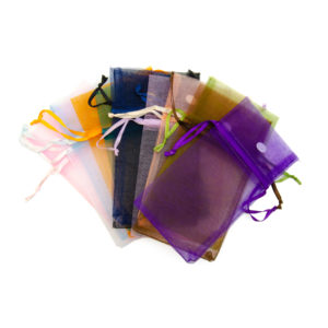 3 x 4in Organza Drawstring Pouch in Solid Assorted Colors