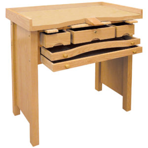 3 Drawer Pine w/Formica Top Jeweler's Bench