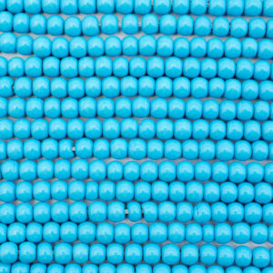 4mm Semi-Round Blue Cultured Turquoise Bead Strand